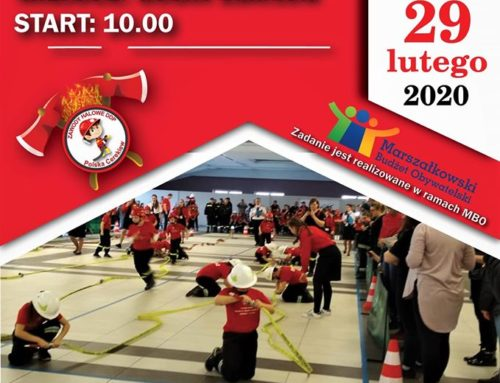Zaproszenie: 29.02.2020 r. – Zawody Halowe Dziecięcych Drużyn Pożarniczych
