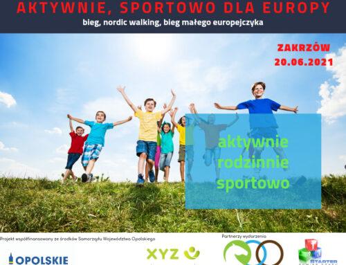 """20.06.2021 r. – """"Aktywnie, sportowo dla Europy"""""""